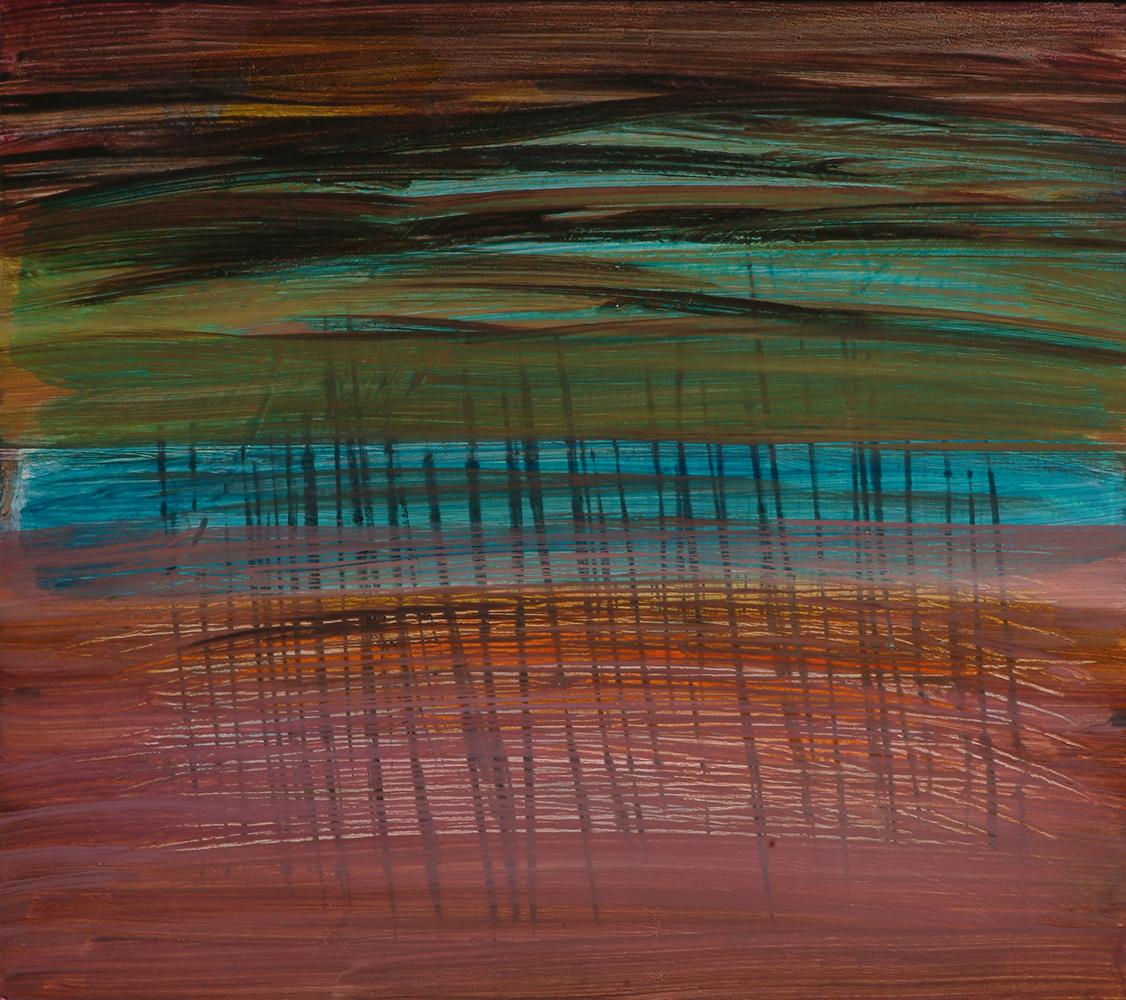 peinture sur bois 30x34cm